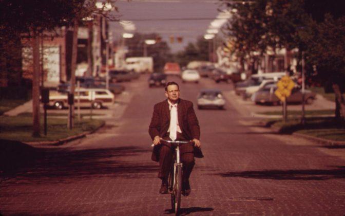 Radfahren in der Fahrbahnmitte