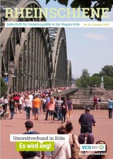 Die Mitgliederzeitung RHEIN-SCHIENE des VCD Regionalverbandes Köln e. V. informiert zweimal jährlich über aktuelle Entwicklungen.