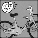 Lass' alle davon erfahren Damit andere Leute erkennen können, dass es sich um ein LibreBike handelt, lade das Stickerdesign herunter, druck' die Sticker auf wasserfestes A4 Stickerpapier und überklebe damit die Logos am Rahmen des Fahrrads. Erzähl' all deinen Freunden davon, denn LibreBikes sind dafür da von allen benutzt zu werden.